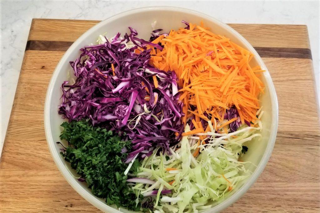 slaw vegetables in bowl