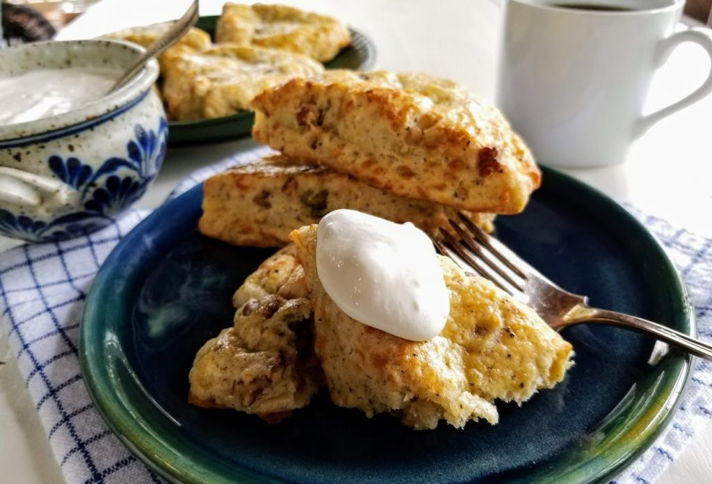Garnished scones