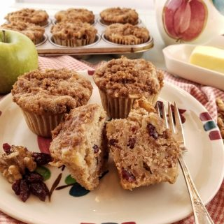 Apple Walnut Cranberry Muffins