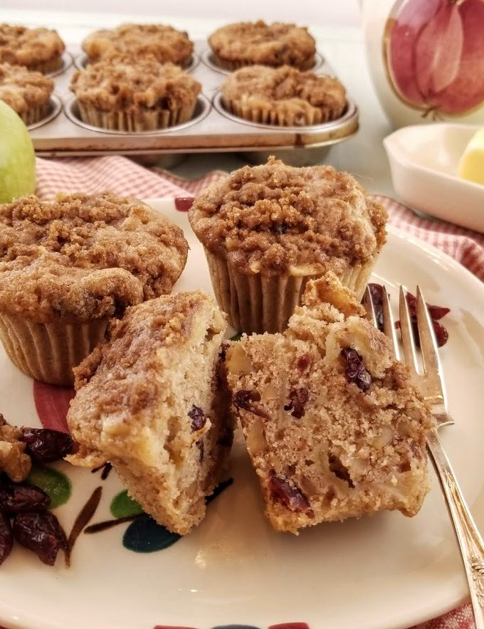 Apple Walnut Cranberry Muffins