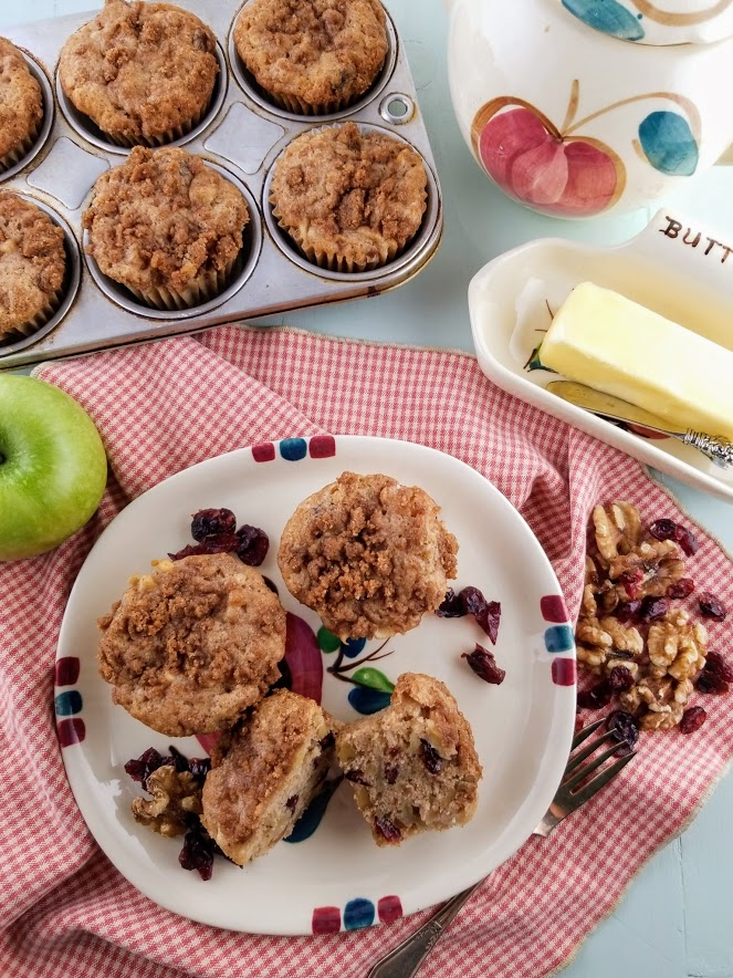 Apple Cranberry Walnut muffins