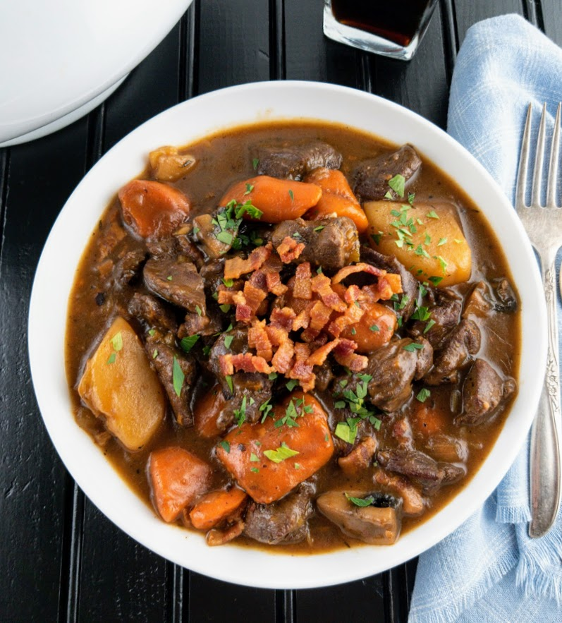 bowl of venison stew