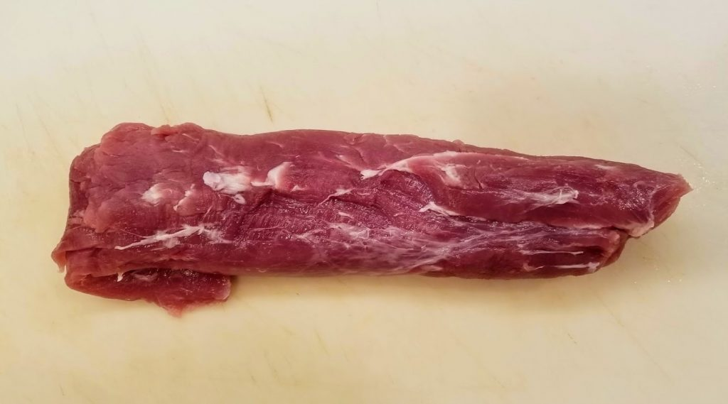 Trimmed raw tenderloin